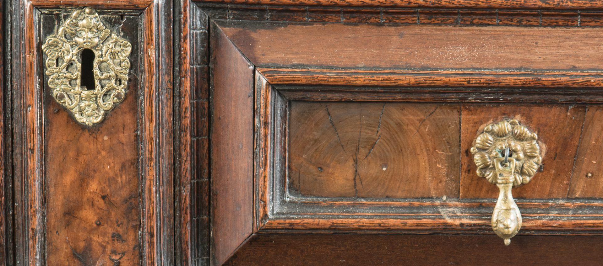 Lot 94: Early Oak Paneled Chest