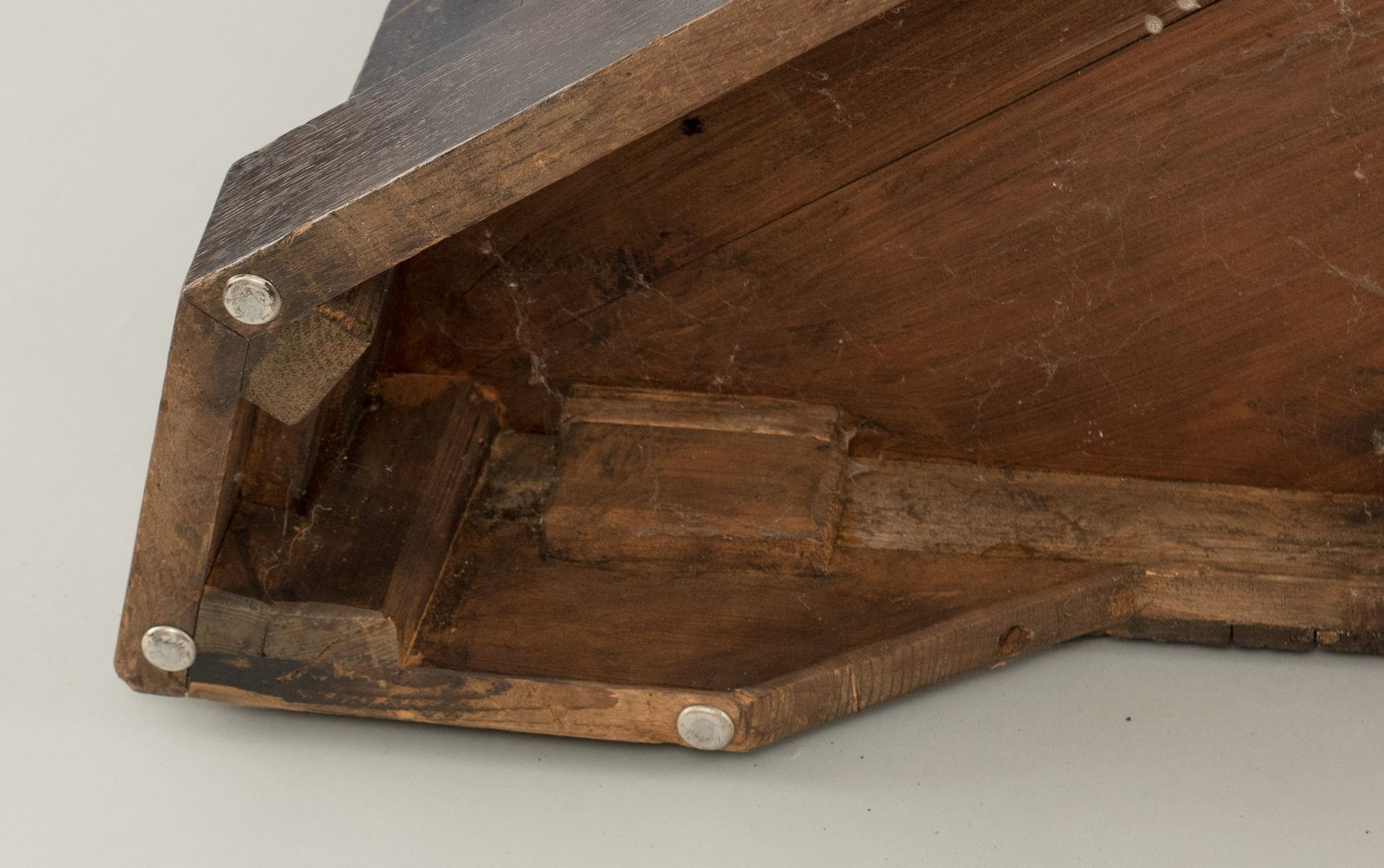 Lot 95: English Oak Corner Cupboard, 18th