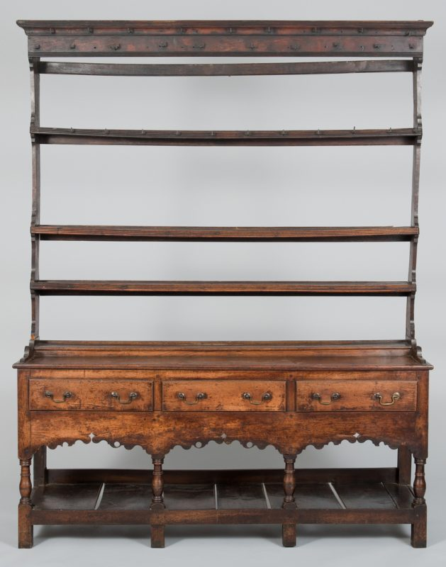 Lot 97: English Dresser with 3 shelves