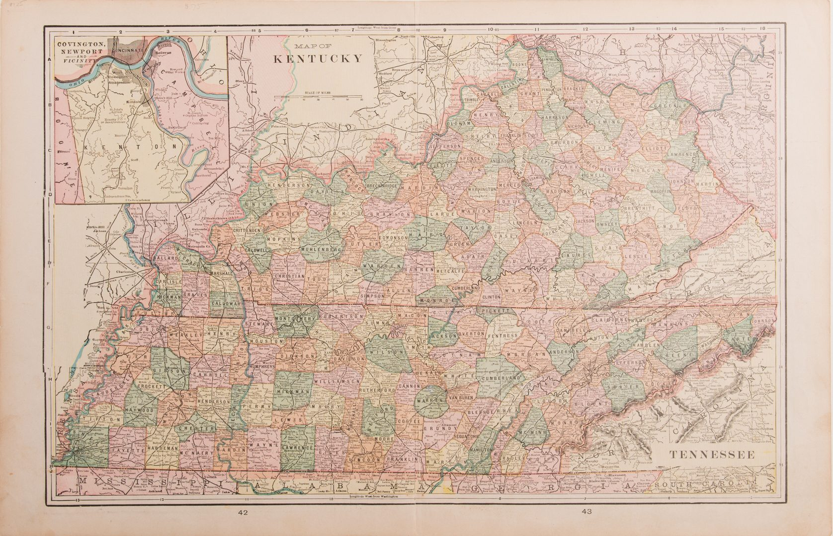 Lot 103: 7 KY & TN Late 19th/Early 20th Century Maps