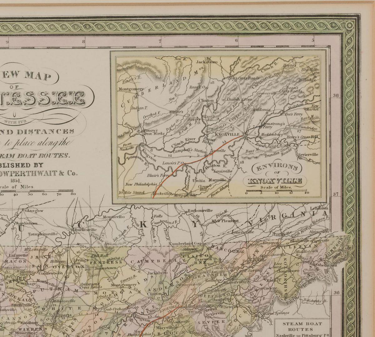 Lot 104: 5 19th cent. TN Maps