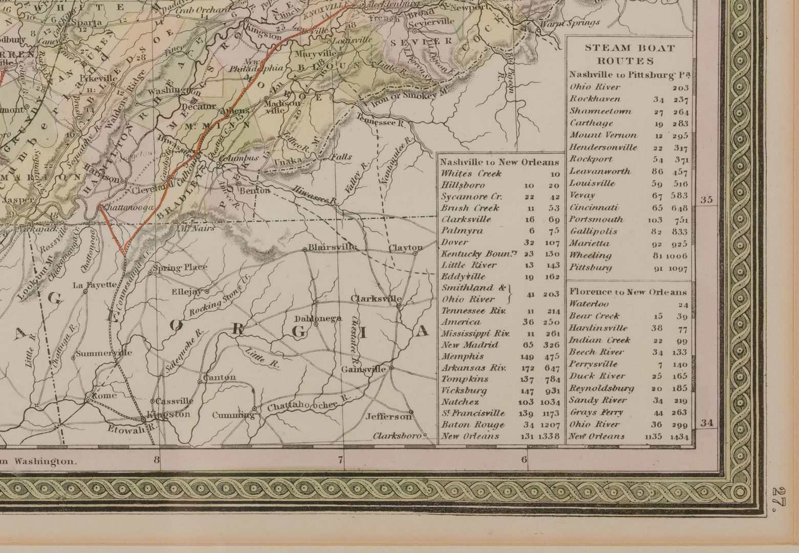 Lot 104: 5 19th cent. TN Maps