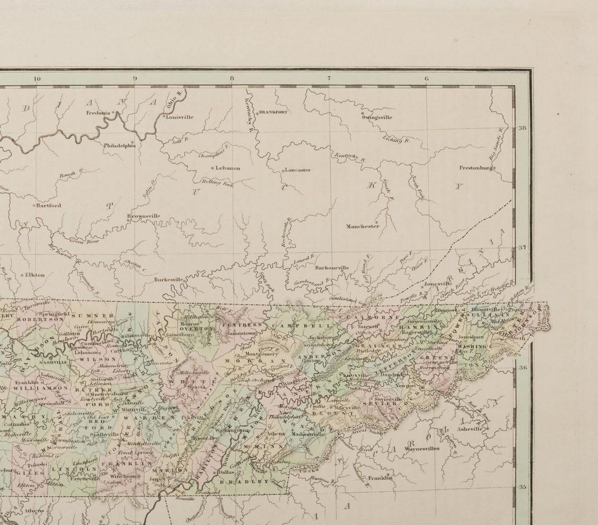 Lot 105: 4 TN Maps, Bradford, 1835, 1838, & 1841
