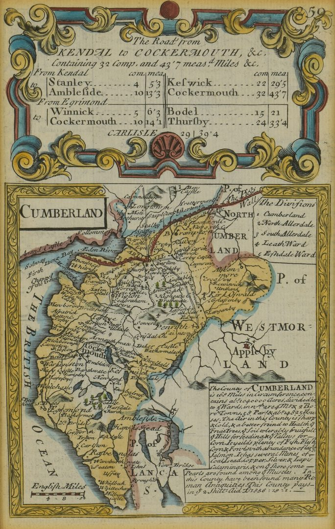 Lot 107: 2 18th C. European Maps, Bowen & Buchhandlung