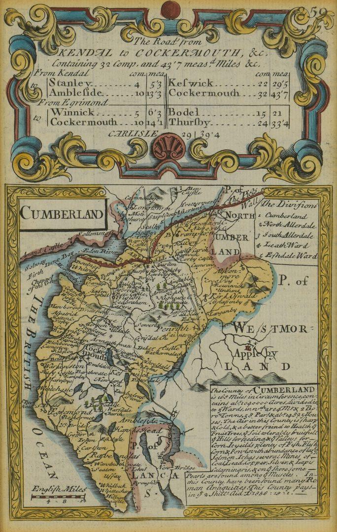 Lot 107: 2 18th C. European Maps, Bowen & Buchhandlung