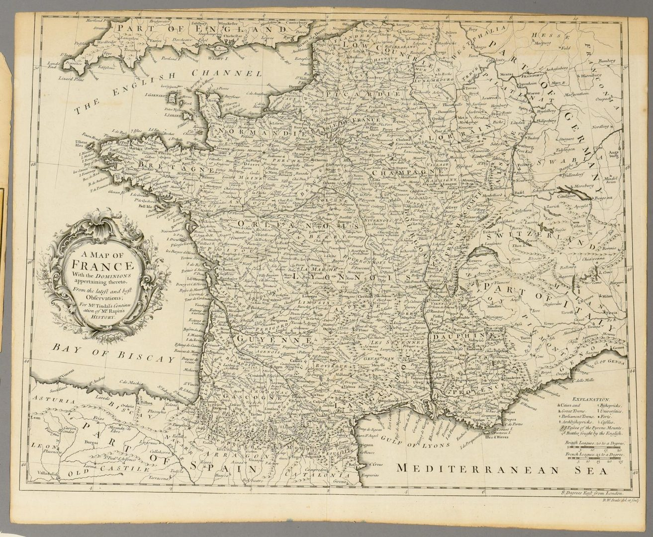 Lot 108: 3 European Maps Including France & England