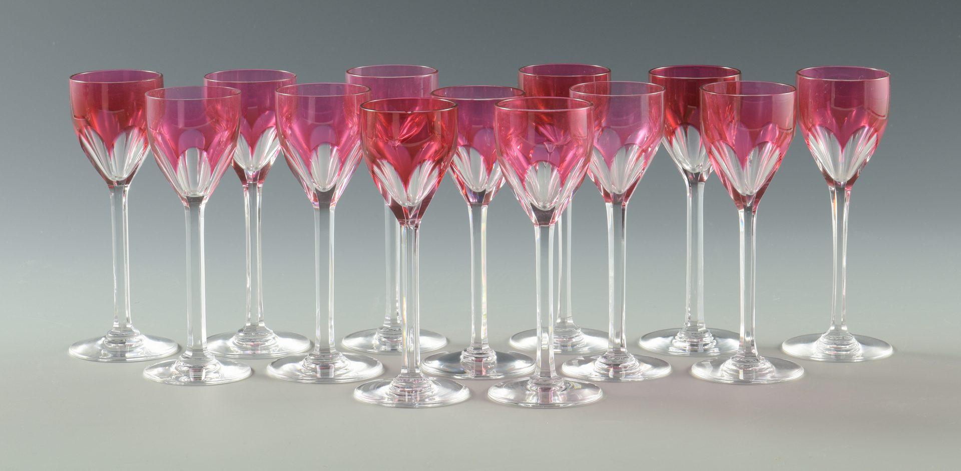 Lot 10: Baccarat & Val St. Lambert Glassware and Opera Glasses, 15 total