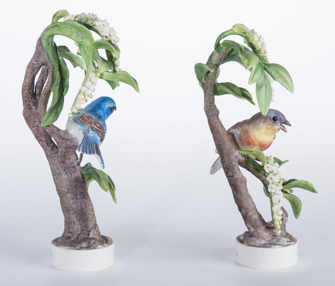 Lot 110: Pair Dorothy Doughty Birds, Lazuli Bunting
