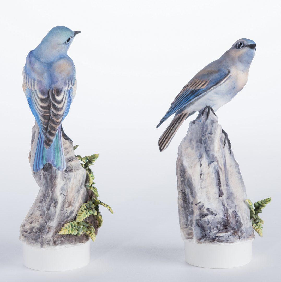 Lot 111: Pair Dorothy Doughty Mountain Bluebirds