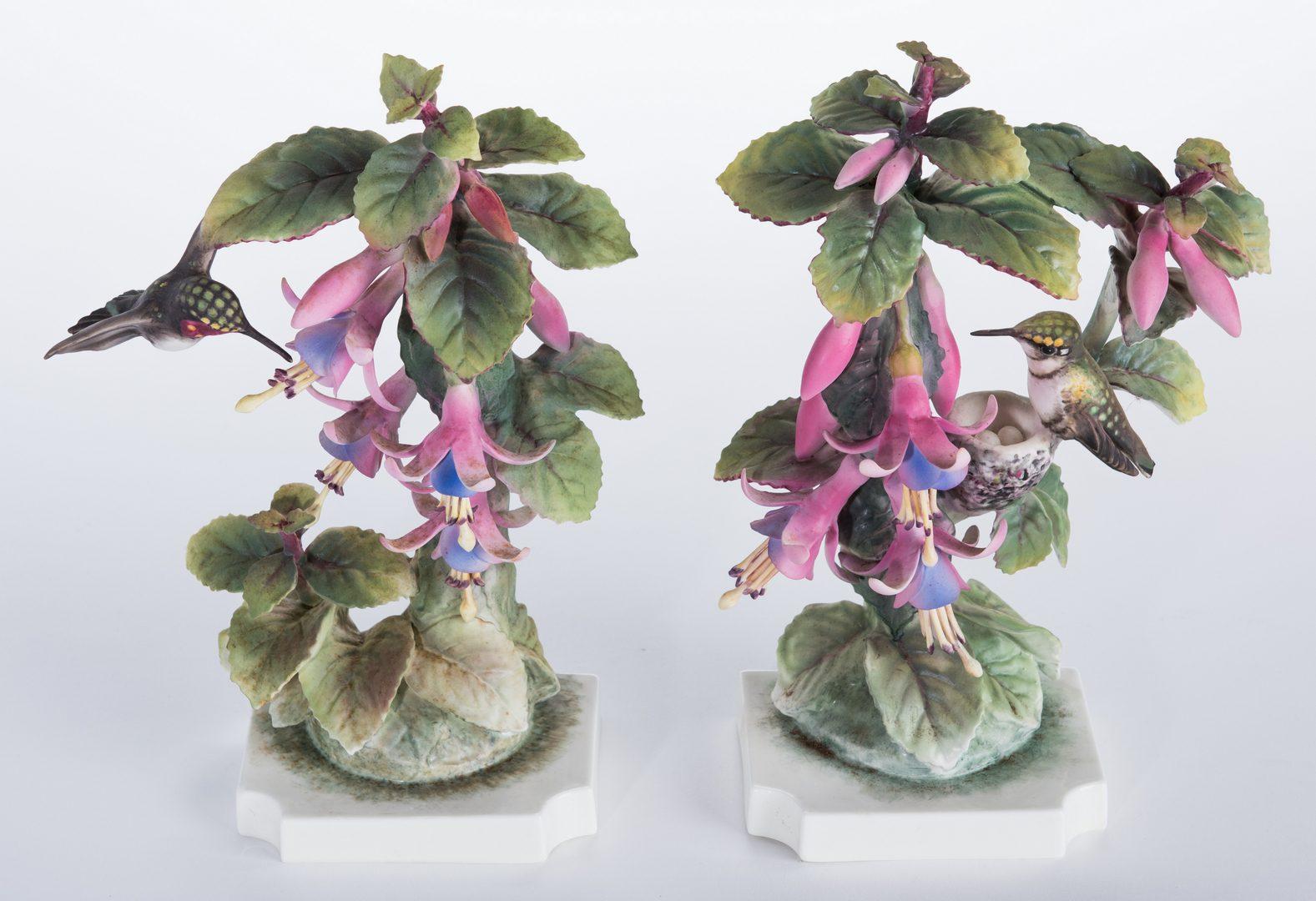 Lot 113: Pair Dorothy Doughty Hummingbirds