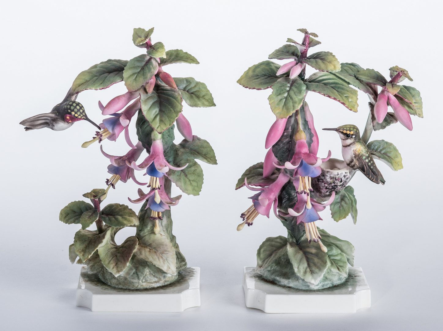 Lot 113: Pair Dorothy Doughty Hummingbirds