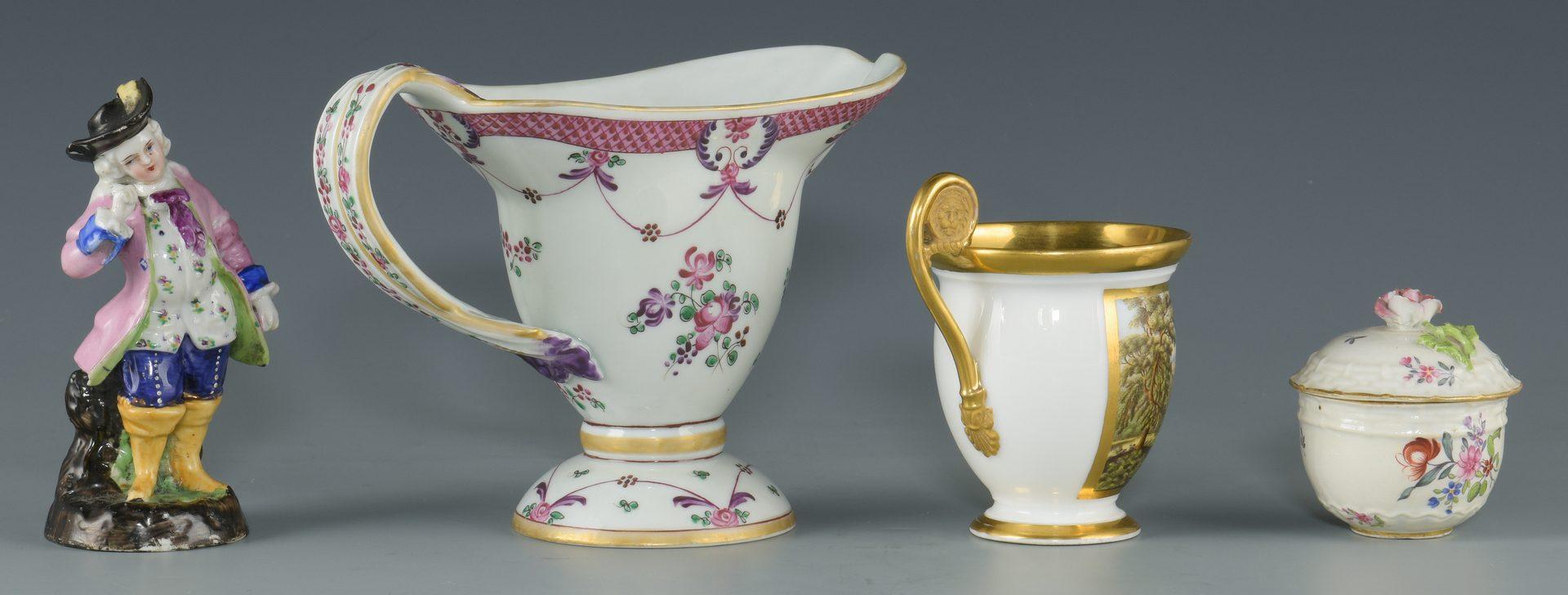Lot : 4 European Porcelain items, incl. Samson