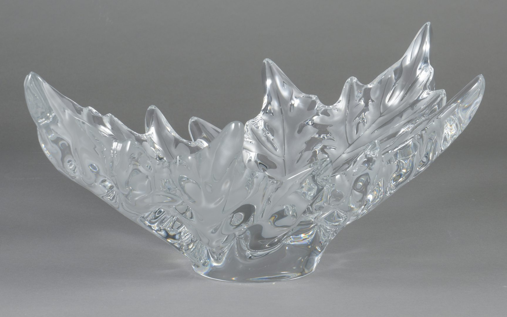 """Lot 11: Lalique """"Champs Elysee"""" Crystal Center Bowl"""