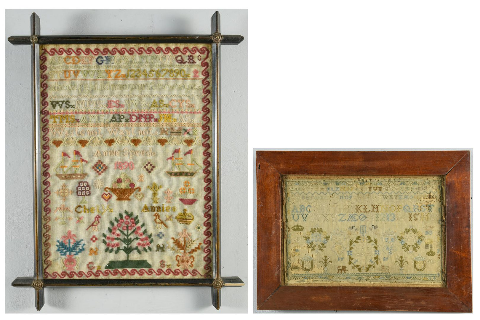 Lot 120: 2 English Framed Samplers