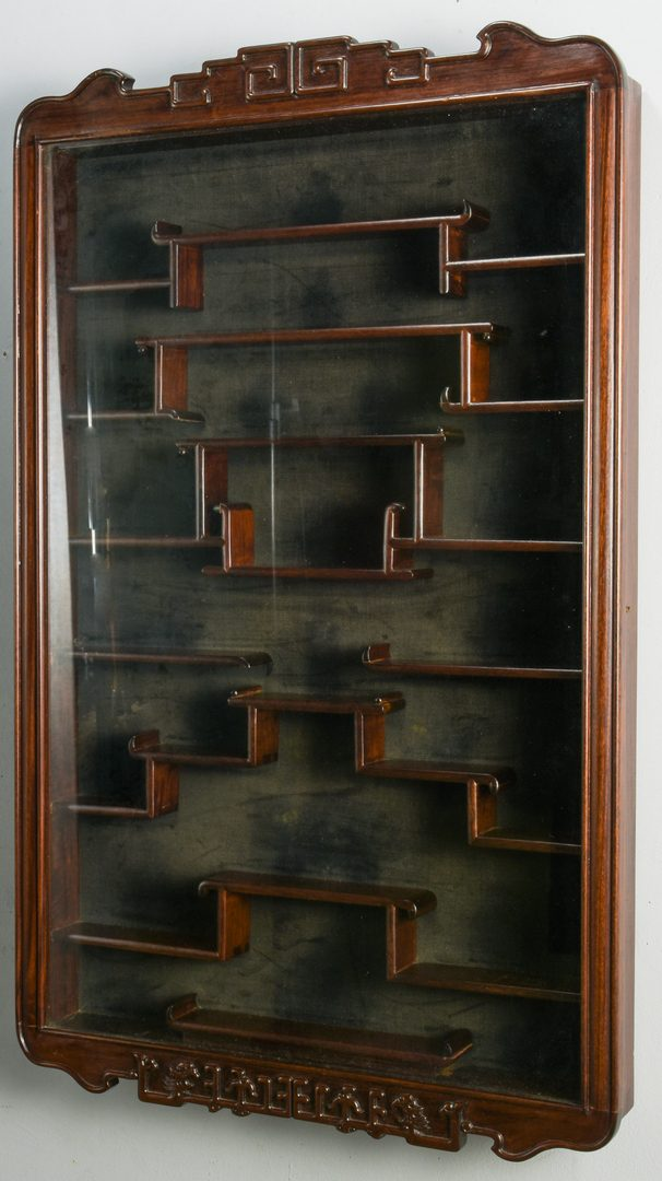 Lot 123: Chinese Rosewood Snuff Bottle Display Case