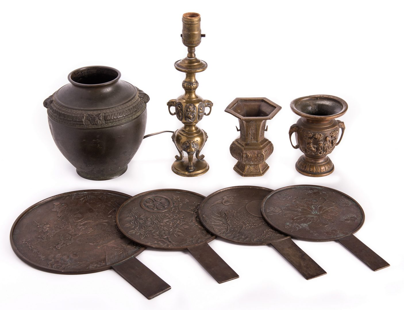 Lot 125: 8 Asian Bronze Items