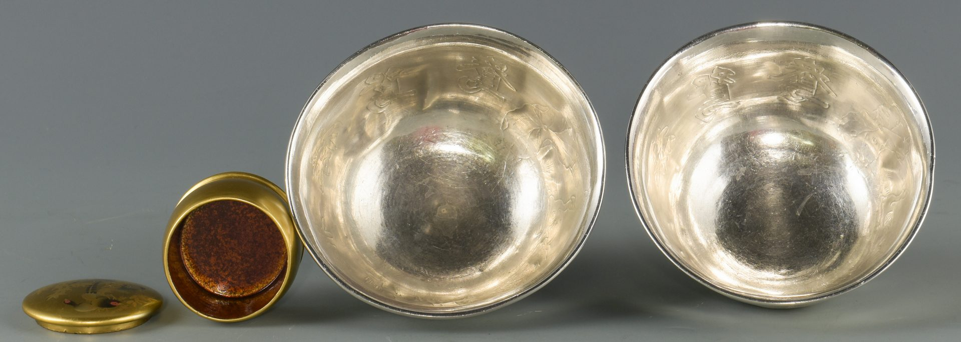 Lot 128: 6 Chinese & Asian Decorative Items, incl. Silver