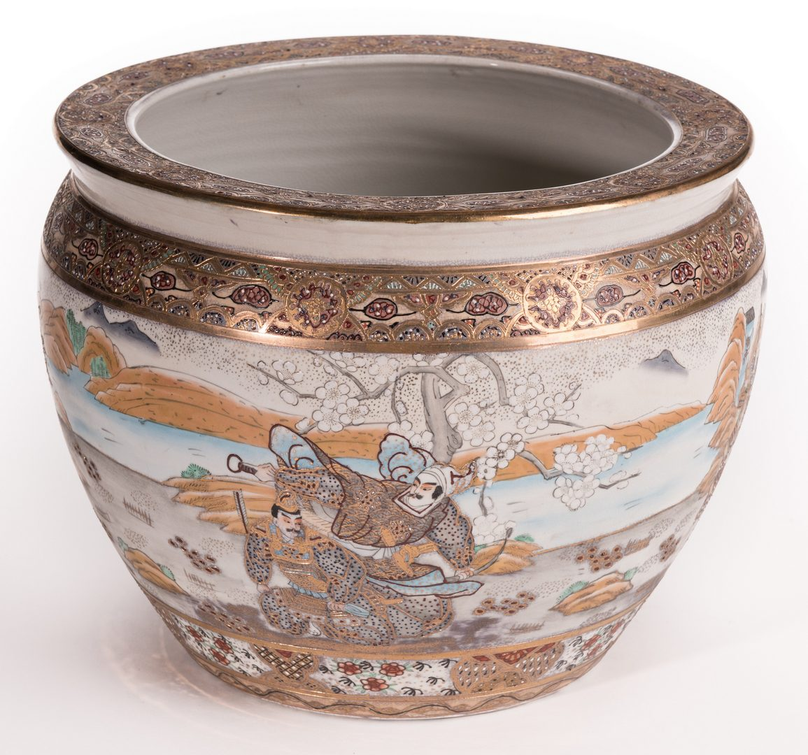 Lot 141: Japanese Satsuma Porcelain Fish Bowl