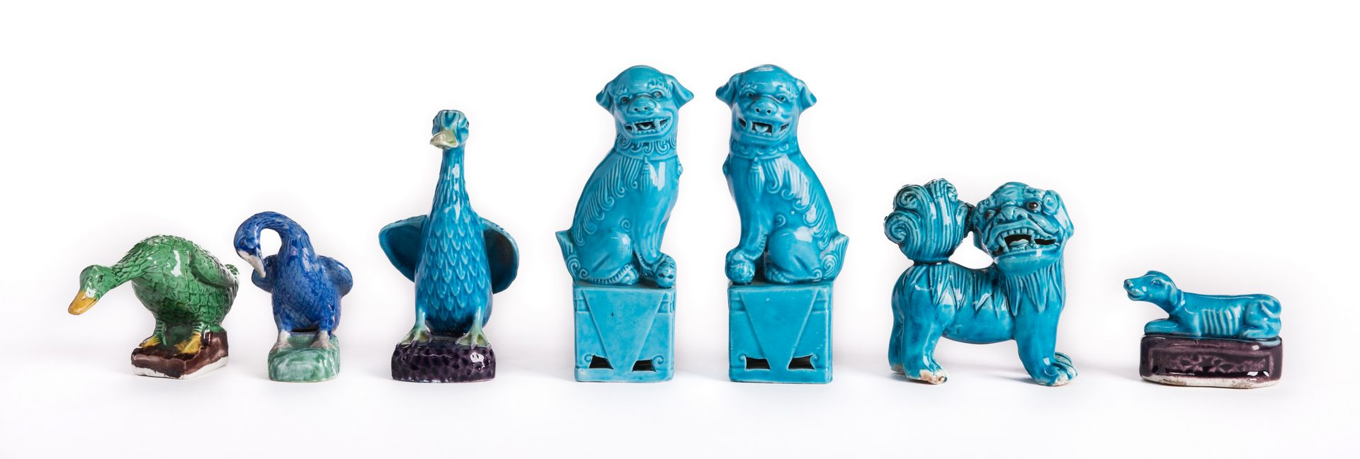 Lot 144: 13 Chinese Export Animal Figurals