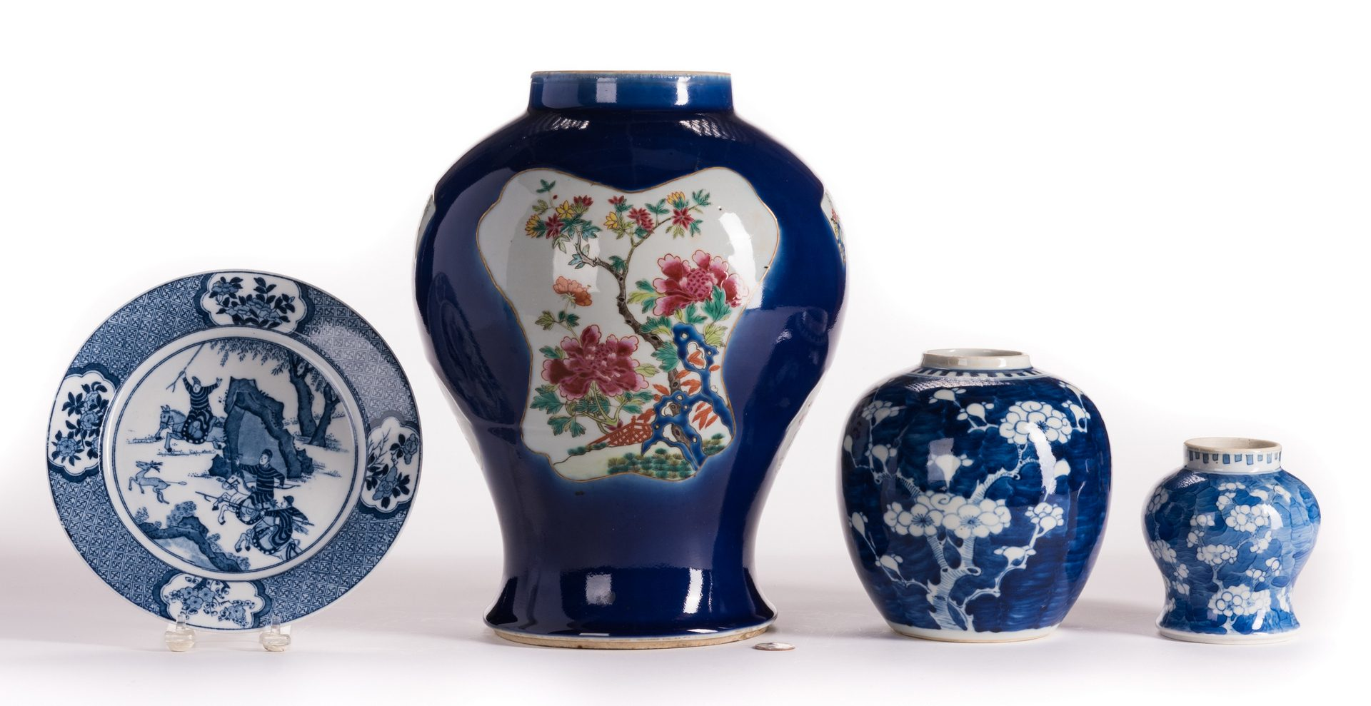Lot 147: 4 Blue & White Chinese Porcelain Items