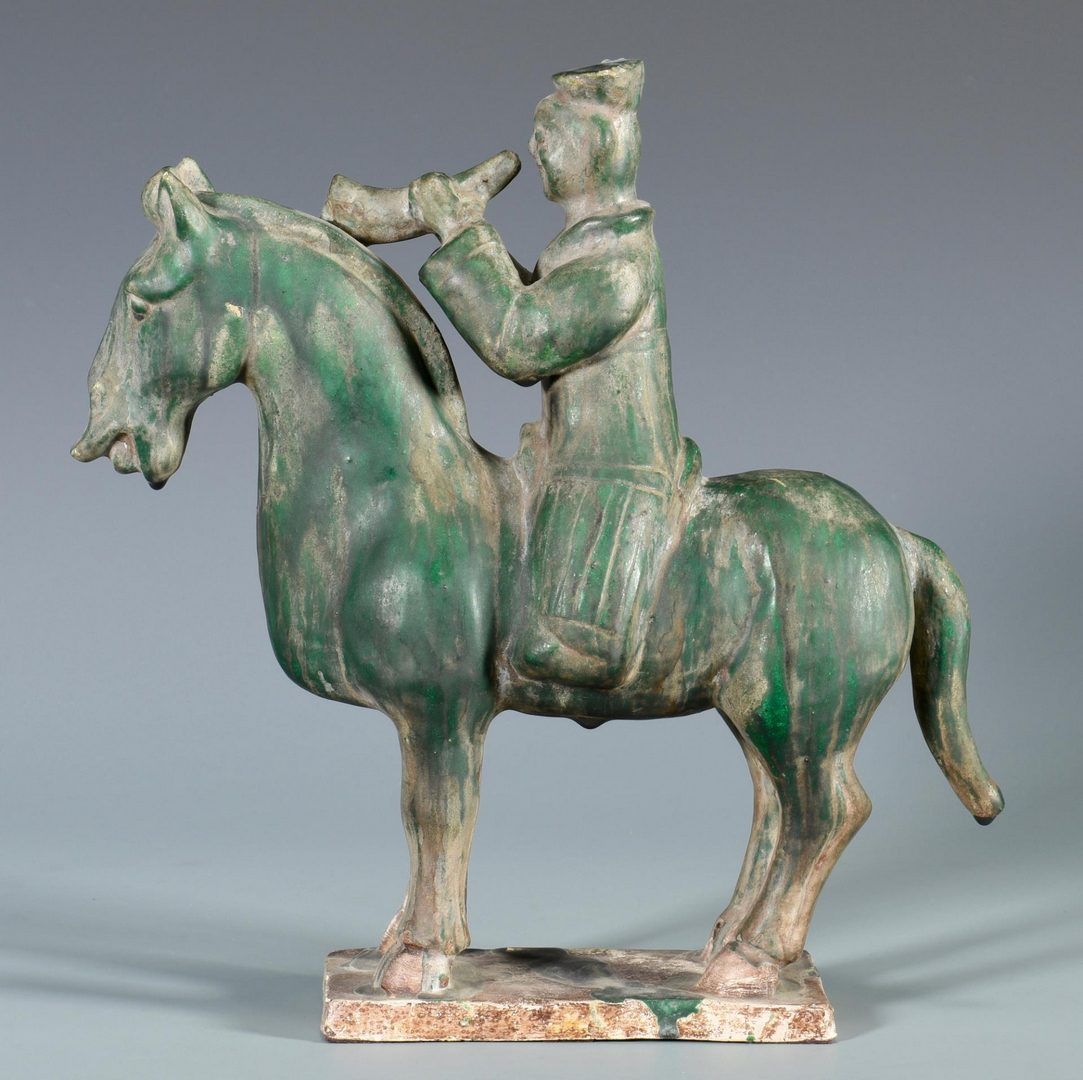 Lot 148: Chinese Pottery Tang Style Horse & Rider