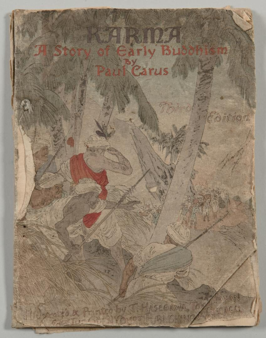 Lot 155: Paul Carus Buddhist Book with Cloth Pages