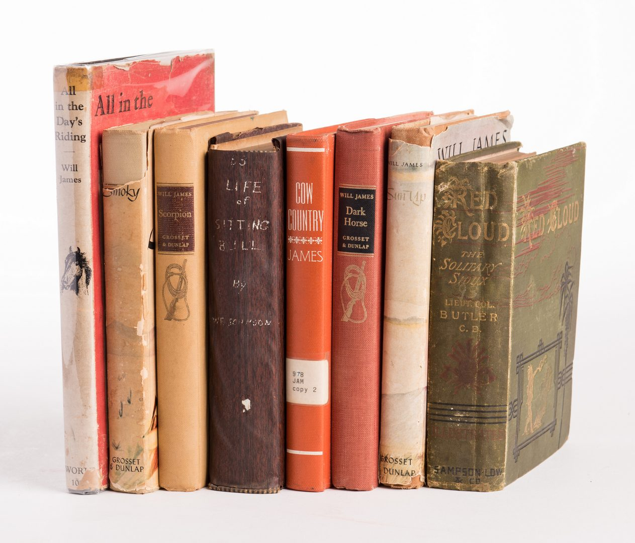 Lot 160: 8 Western Related Books, inc. Butler, Johnson, James