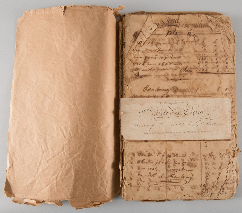 Lot 163: Early Handwritten Arithmetic Textbook