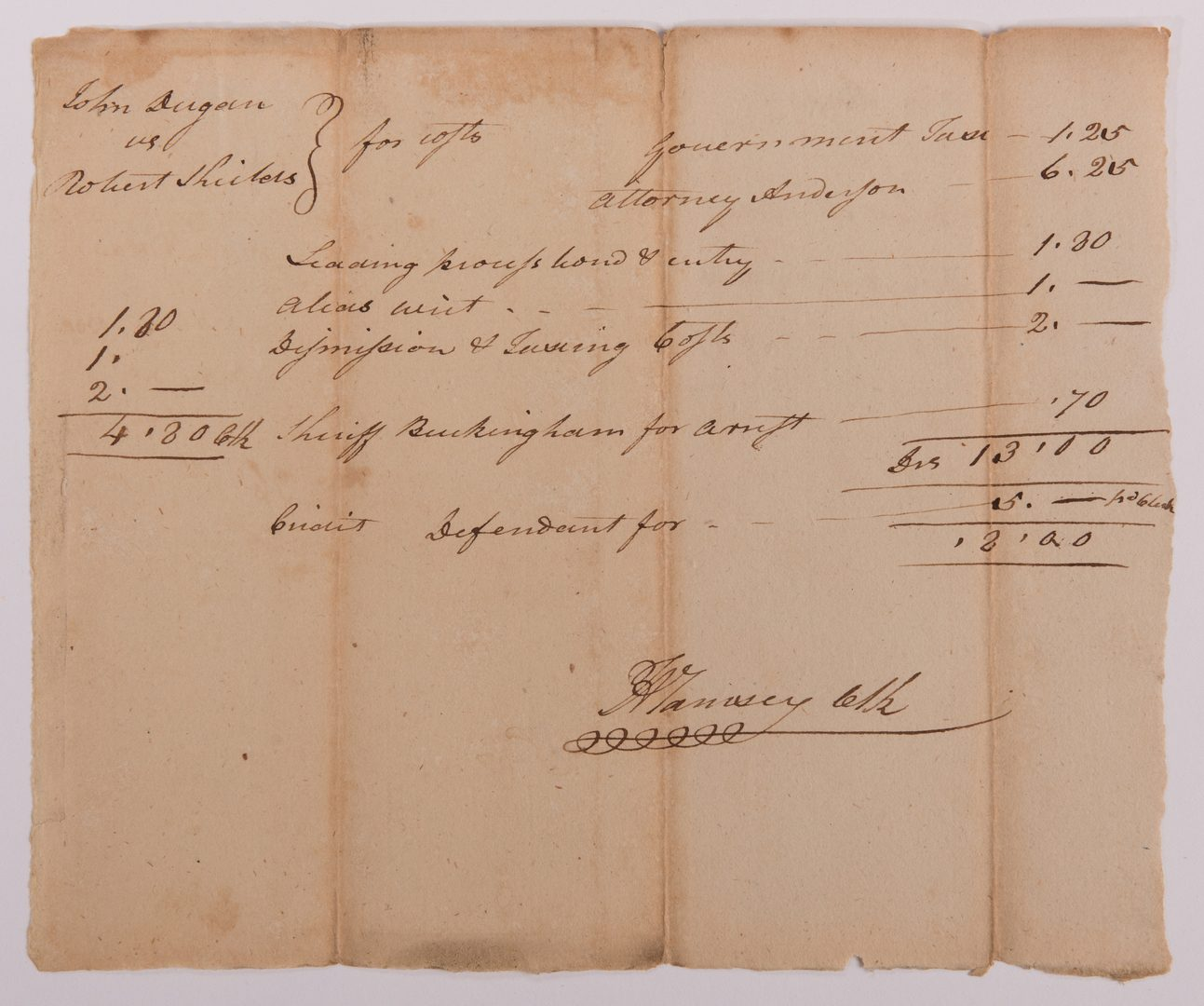 Lot 164: 4 Signed East TN Document, inc. F. A. Ramsey