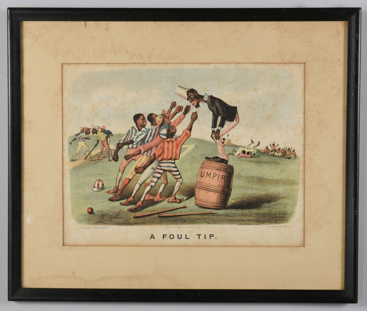 Lot 172: 2 Currier and Ives  Black Americana Lithographs