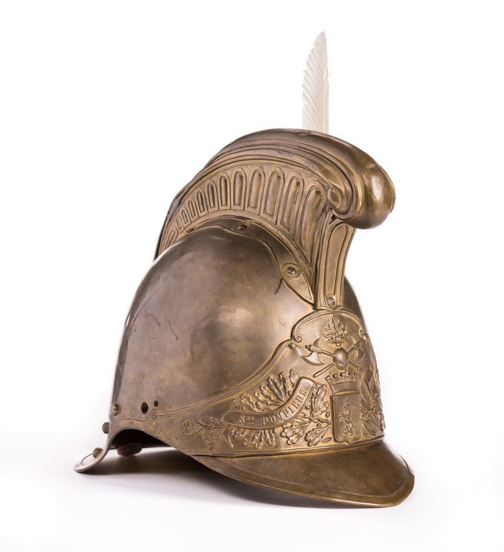 Lot 174: French Fireman's Helmet