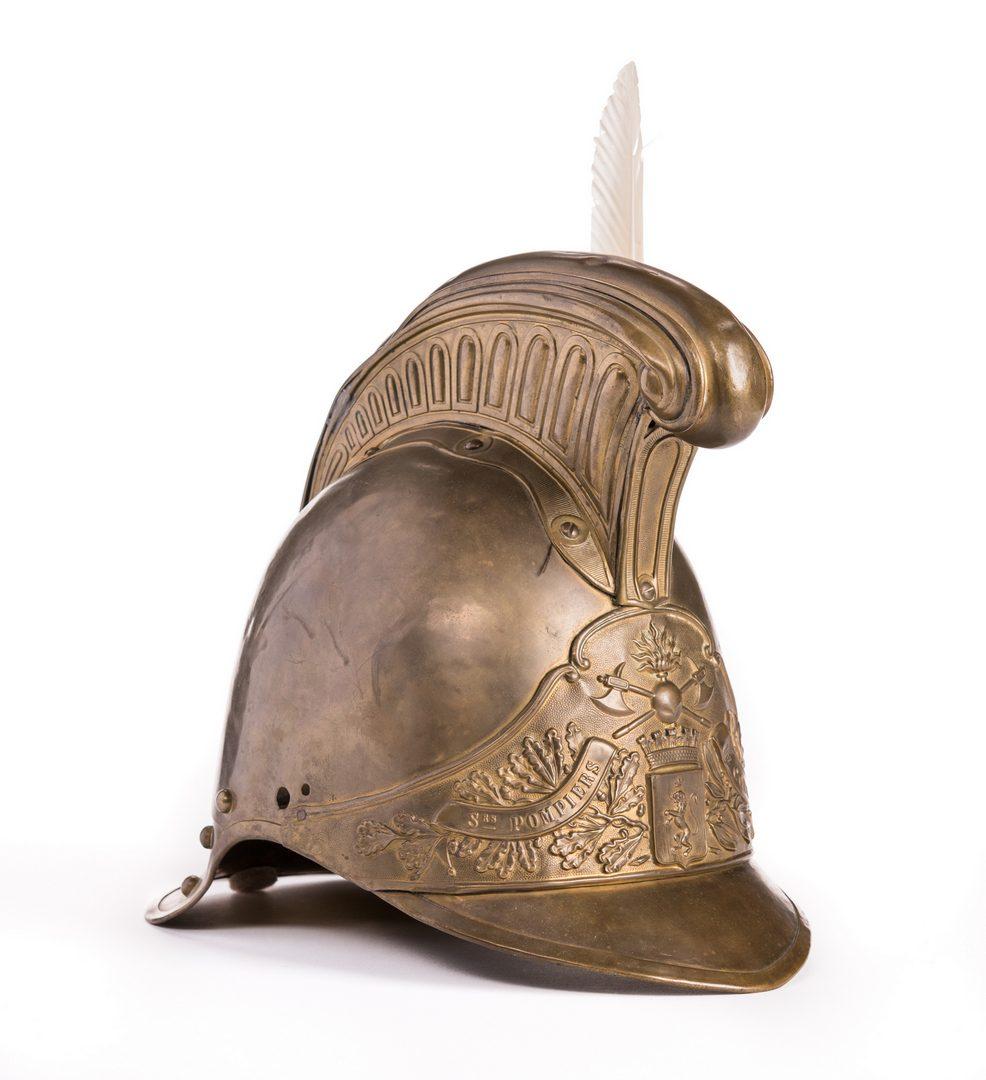 Lot 174: French Fireman's Helmet
