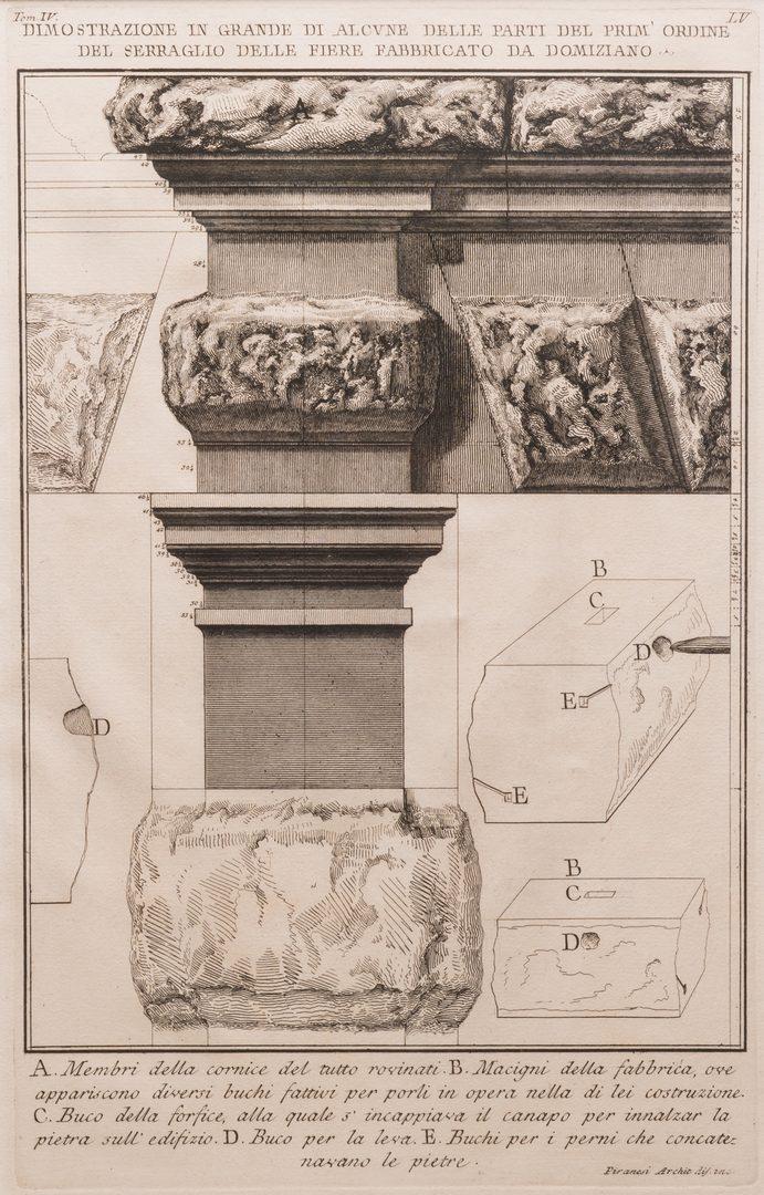 Lot 175: 3 Engravings, Piranesi and Earlom