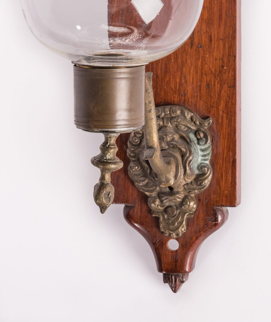Lot 176: North Carolina Arts & Crafts Tray & Carved Wall Sconce