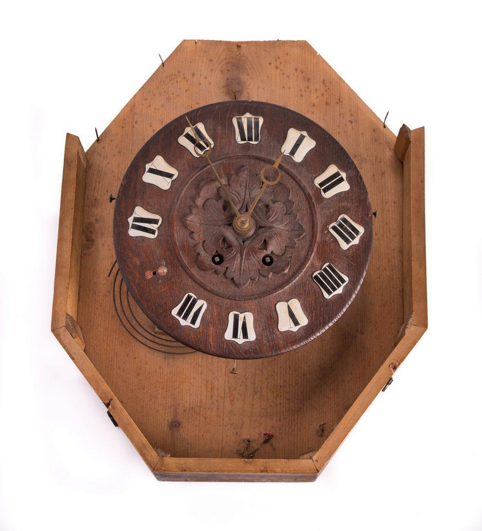 Lot 177: Carved German Black Forest Clock