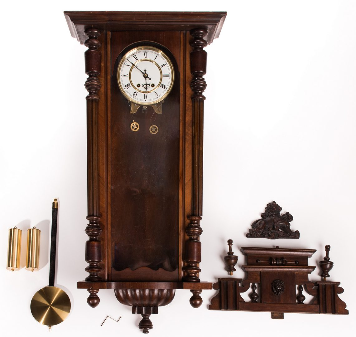 Lot 179: Late Empire Wall Hanging Clock