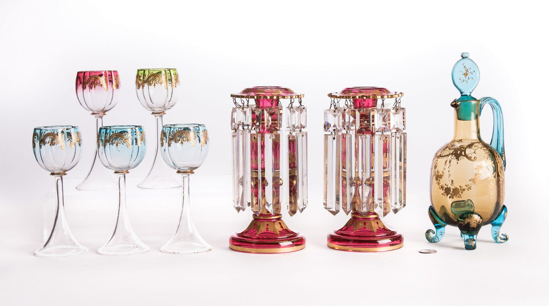 Lot 17: Art Glass, 8 pcs, incl. Moser