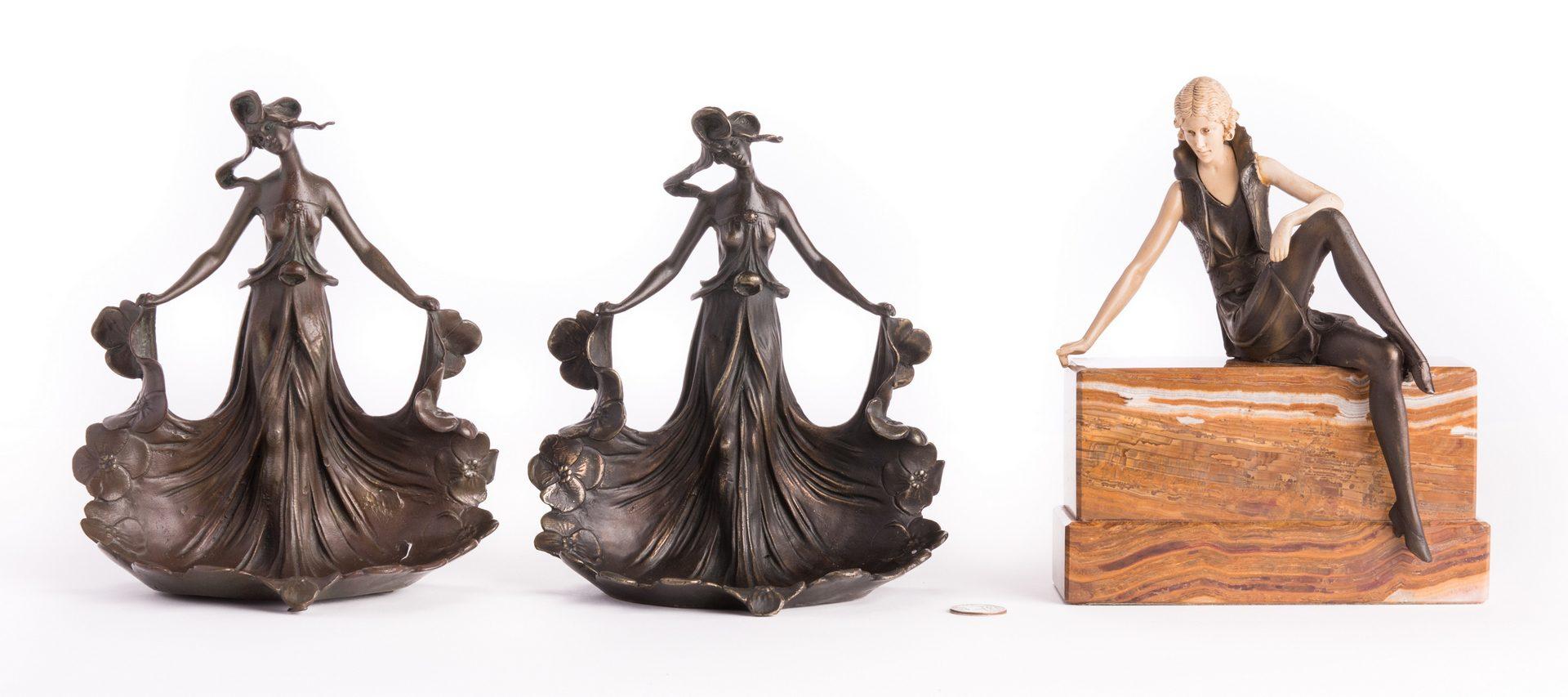 Lot 183: 3 Bronze Female Figures, inc. after Carlier