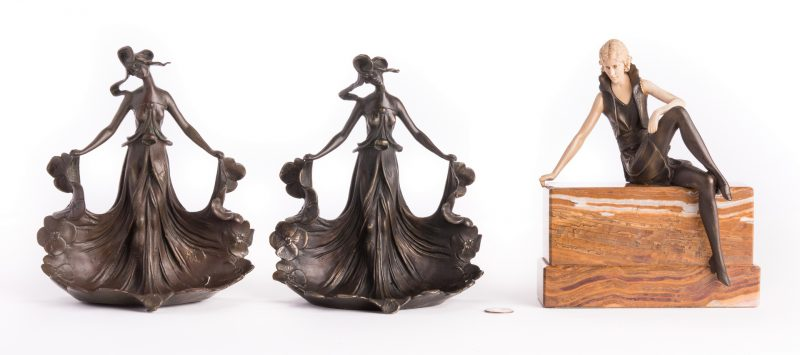 Lot 183: 3 Bronze Female Figures, inc. after Carlier