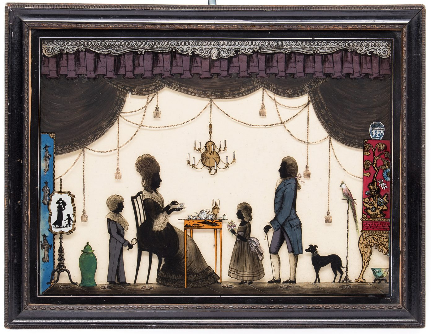 Lot 184: Victorian Silhouette Reverse Painting