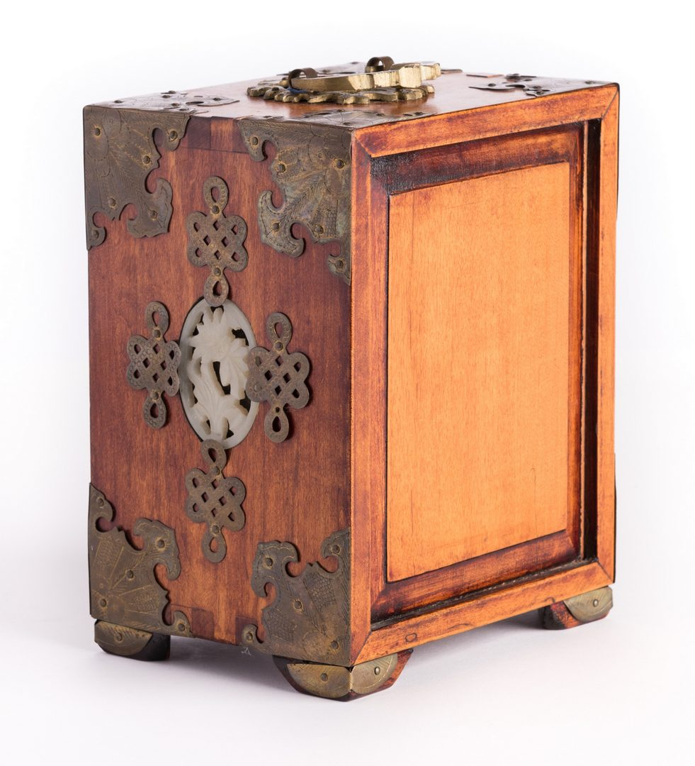 Lot 188: Hardstone Puzzle Ball, Cabinet & Box