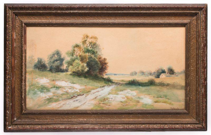 Lot 192: Deland Watercolor Landscape