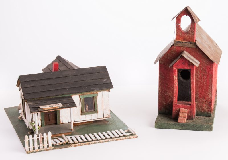 Lot 193: 2 Folk Art Building Assemblages