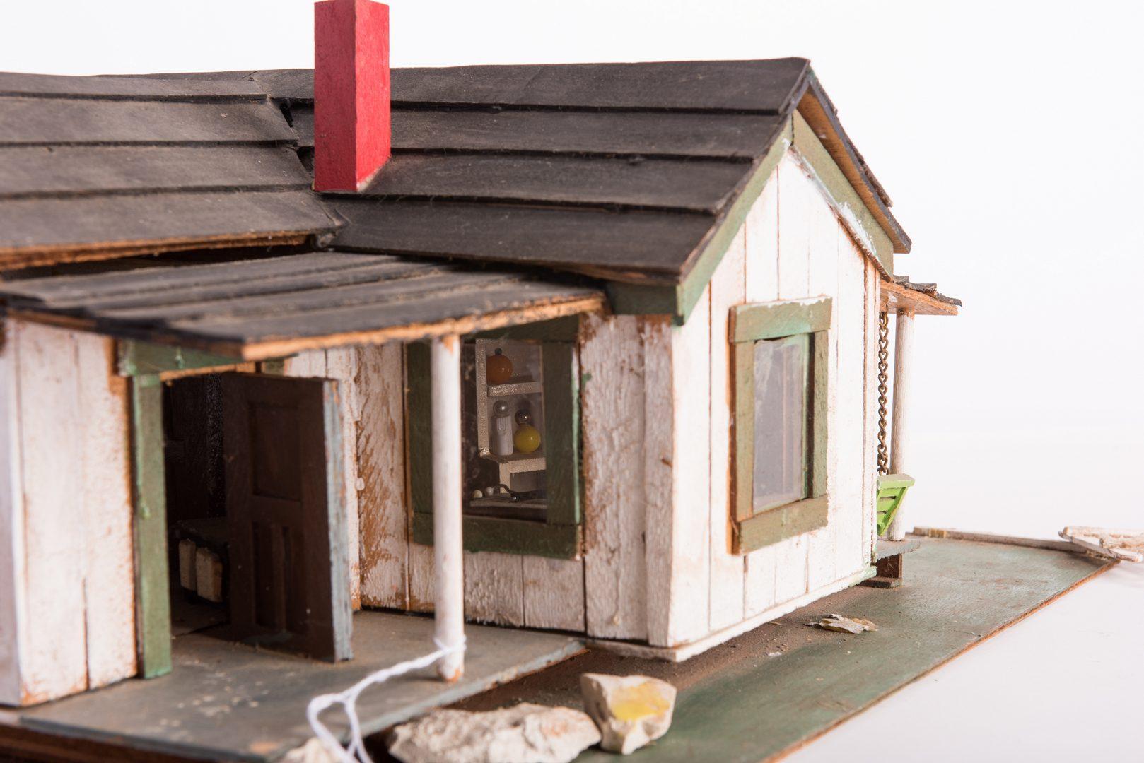 Lot 193: 2 Folk Art Building Assemblages