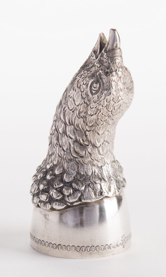 Lot 19: Silver Bird Stirrup Cup, Germany