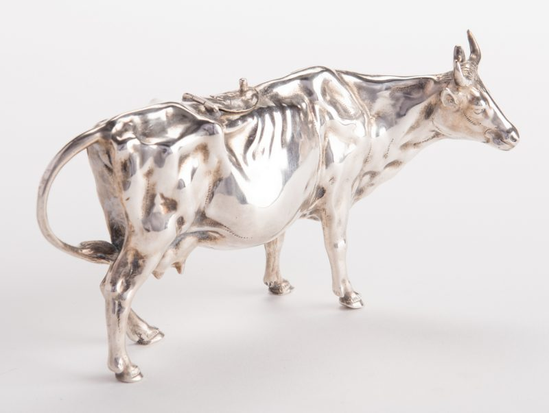 Lot 20: European Sterling Silver Cow Creamer