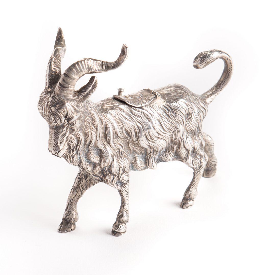 Lot 21: Silver Goat Creamer, Germany