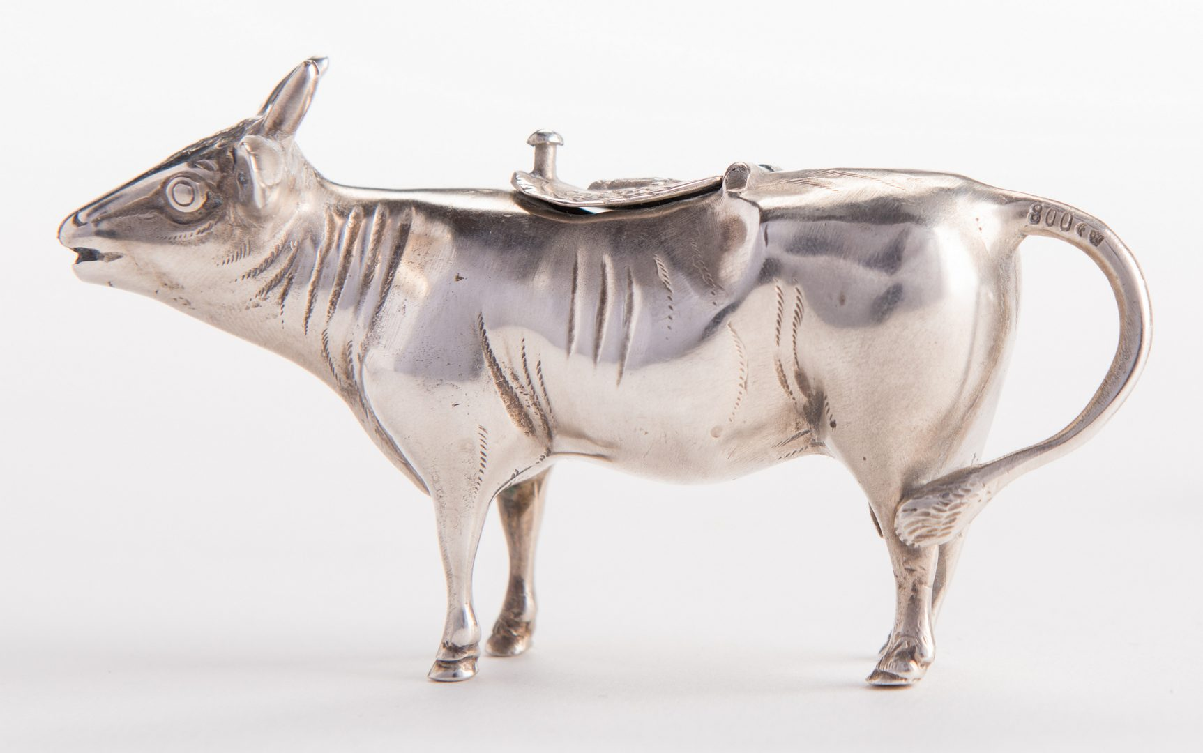 Lot 22: 2 Silver Cow Creamers , one 925