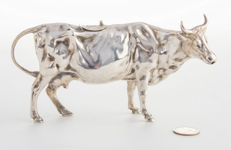 Lot 23: European Sterling Silver Cow Creamer