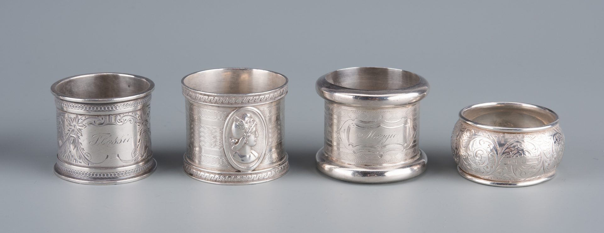 Lot 25: Victorian Napkin Rings and Knives